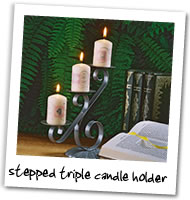 Metalcraft Gallery - Stepped Triple Candle Holder